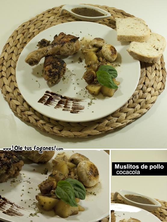 Muslitos de pollo a la cocacola