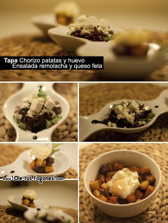 tapa patata chorizo y huevo