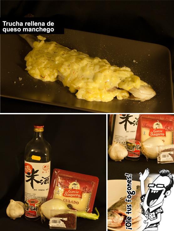 trucha rellena de queso