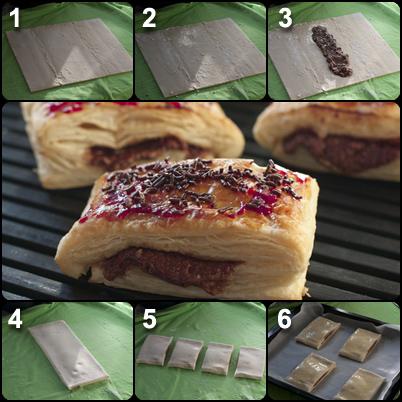 napolitanas, chocolate, receta, fácil, caseras, hojaldre
