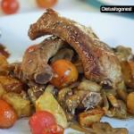 Wok de costillas de cerdo y champiñones