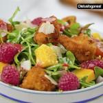 Ensalada de pollo a la vinagreta de frambuesa