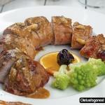 Solomillo de cerdo al vermut y naranja