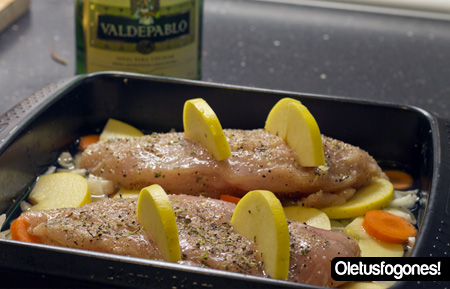 Ole tus fogones pechugas de pollo asadas con salsa de - Pechugas de pollo al horno con patatas ...